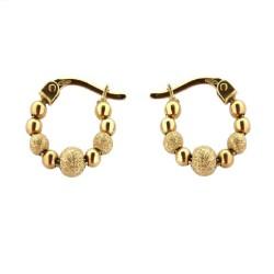 Arracadas con esferas de Oro 18K 11mm