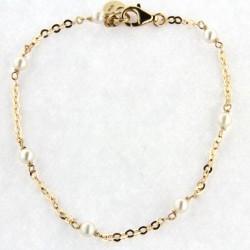 Pulsera de Oro 18K y perlas