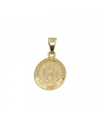 Medalla guadalupe Oro 18K 15mm