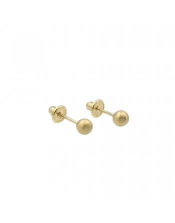 Aretes esferas de 4mm en...